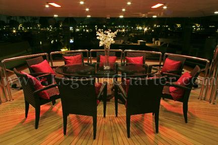 Party Yacht Dining Area